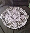 Heavy Clear Glass 5 Part Round Divided Relish Plate/Dish Approx. 11 1/4