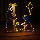 Nativity Manger Scene Outdoor Christmas Rope Light Yard Display Decoration NEW