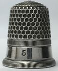 Mint Child's Size 5 - Simons Silver Thimble - Rolled Finely Reeded Rim