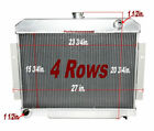 NEW 4 Row Aluminum Radiator for Jeep CJ 73 86 Cherokee 74 75 Scrambler 81 85