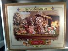 Grandeur Noel Collectors Edition 2000 10 Piece Porcelain Nativity Set With Box