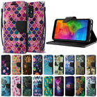 For LG Q7 Q7+ Q7 Alpha Q610 55 Heavy Duty Wallet Card Slot Stand Case Cover