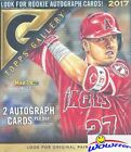 2017 Topps Gallery Baseball HUGE Factory Sealed HOBBY 20 Pack Box-2 AUTOGRAPHS