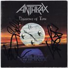 ANTHRAX Persistence of Time JOEY BELLADONNA Scott Ian Bello Got Autograph SIGNED