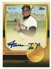2012 Topps Willie Mays Golden Greats On the Card Auto