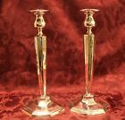 STERLING SILVER CANDLESTICKS PAIR HAND MADE HAND ETCHED GRAND STERLING.
