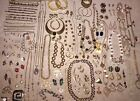 Huge Lot Vintage Jewelry Lot Over 100 Pieces Necklaces Pins Earrings