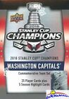 2018 Upper Deck Washington Capitals Stanley Cup Champions Hockey Cards - Checklist Added 16