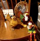 Rooster Hen Chicken Lot of 5 VINTAGE Barnyard and Farm Animal