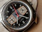 Vintage Dugena Chronograph w/Mint Exotic Dial,Divers All SS Case,Valjoux 7733