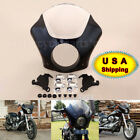 Black Gauntlet Fairing W/ Trigger Lock Mount Kit For Harley Iron 883 XLH1200 XL