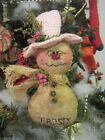 Frosty the Snowman - Primitive Christmas Ornie or Bowl Filler -  #1772