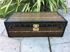 Antique Louis Vuitton Monogram Trunk Antique BARN find RARE Unique purse bag