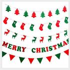 3m Merry Christmas Banner Burgee Hanging Ornament Xmas Party Pennant Decoration