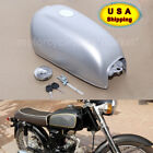 Silver Fuel Gas Tank W/ fuel stop petrol cap For Honda benly CD50 CD70 Jialing70