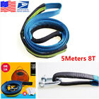 8 Ton 16ft Heavy Duty Towing Kit Car Off Road SUV Emergency Tow Strap Rope Hooks