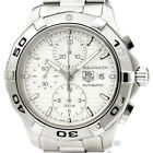 Polished TAG HEUER Aquaracer Chronograph Steel Automatic Watch CAP2111 BF331647