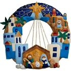 Bucilla Nativity Town of Bethlehem Felt Christmas Wreath Kit Factory Direct