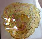 INDIANA GLASS Loganberry Pattern Amber Carnival Candy Dish