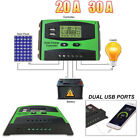 30A Solar Panel Controller Battery Charge Regulator 12V 24V Auto With Dual USB