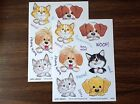 3 Suzys Zoo sticker sheets Cats  Dogs Woof woof and meow meow