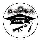 30 Graduation Class of 2019 Envelope Seals Stickers 15 round