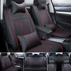 Pu Leather 100 Car Seat Cover 5-seat Suv Cushions Front Rear Set Wpillows Us