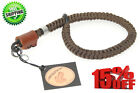 PROFESSIONAL CAMERA CLUTCH WRIST STRAP BROWN LEATHER PARACORD CARABINER LANYARD