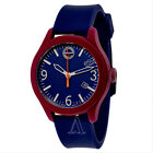 Brand New! ESQ Movado 07301453 Mens ONE Watch Stainless Steel blue red Silicone