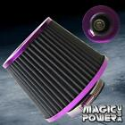 3 Universal Purple Inlet High Flow Short Ramcold Intake Round Cone Air Filter