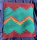 Southwest Geometric Pillow Cover Bold Colors Hand Woven Wool Native Design 22x22