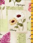 New 100 Cotton Quilting Sewing Fabric SSI Botanical Blooms