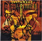 TESTAMENT The Gathering, CHUCK BILLY Dave Lombardo +2 Slayer CD Autograph SIGNED