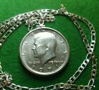 Uncirculated 1971 Kennedy Half Dollar Pendant on a 26 925 Linked Silver Chain