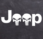 Jeep Punisher Decal Skull Logo Sticker Vinyl Wrangler Rubicon Off Road Military