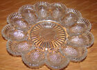 Antique Indiana Glass Heavy Deviled Egg Server (Sunflower Pattern) Oyster Plate