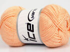 Lot of 4 x 100gr Skeins ICE BAMBOO SOFT 50 Bamboo Yarn Light Salmon