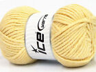 Lot of 4 x 100gr Skeins ICE SOFT TOUCH BULKY Hand Knitting Yarn Yellow