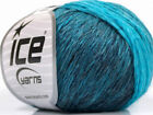 Lot of 8 Skeins ICE SOFT CHAIN WOOL 30 Wool Yarn Turquoise Shades