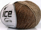 Lot of 8 Skeins ICE SOFT CHAIN WOOL 30 Wool Hand Knitting Yarn Brown Shades