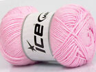 Lot of 4 x 100gr Skeins ICE BAMBOO SOFT 50 Bamboo Hand Knitting Yarn Pink