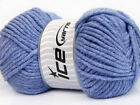 Lot of 4 x 100gr Skeins ICE SOFT TOUCH BULKY Hand Knitting Yarn Lilac