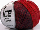 Lot of 8 Skeins ICE SOFT CHAIN WOOL 30 Wool Hand Knitting Yarn Navy Red