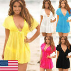 Women  Swimsuit Summer Cover Up Kaftan Beachwear Swimming Bathing Suit Bikini US