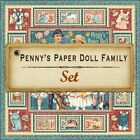 Graphic 45 Pennys Paper Doll Family 8 Sheets 12x12 Paper Collection