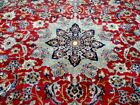 10X14 1960's GORGEOUS FINE HAND KNOTTED ANTIQUE PLUSH WOOL ISFAHANN ORIENTAL RUG