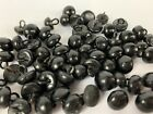 Lot 60 Antique Shoe Boot Shank Buttons Black  Bear Doll Eyes Victorian Vtg