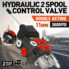 2 Spool Hydraulic Directional Control Valve 11gpm 4300Psi Small Tractors Motors