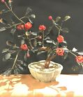 BONSAI Tree Oriental Asian Glass Flower Tree Approx 12 Tall