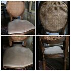 BEAUTIFUL Set Of 4 French Provincial Double Cane Back Chairs
